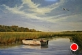 The Fishing Spot by Paula B. Holtzclaw Oil ~ 24 x 36