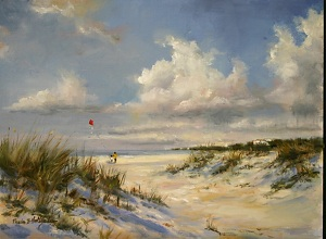 Kite_Lessons by Paula B. Holtzclaw  ~ 9 x 12