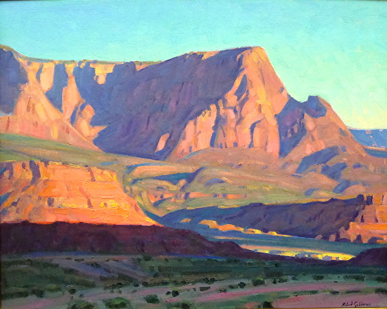 OCTOBER DAWN - VERMILLION CLIFFS - Oil on Canvas