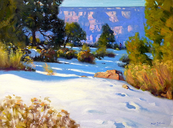 WINTER - Oil on Canvas