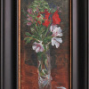 Kilnerart_Flowering Herbs_5x11_KofFrame_Plein Air Black No1_2012