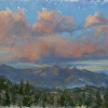Kilnerart_Plein Air Oil Study_Last Light after Rain_Mammoth CA_6x8_June 2009