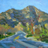 KilnerArt_Plein Air Painting_View of Simi Peak at Dusk_Jan 27th 2015