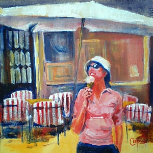 Ice Cream At Eleven? Perfect by karen cooper Acrylic ~ 12 inches x 12 inches
