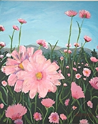 Field on Pink 30 x 24