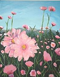 Field on Pink 30 x 24