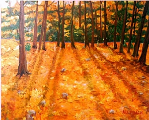 Indian Summer II by Jo Allebach Acrylic ~ 24 x 30