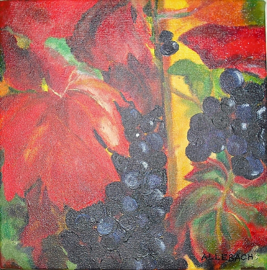 Autumn Grapes by Jo Allebach Acrylic ~ 12 x 12