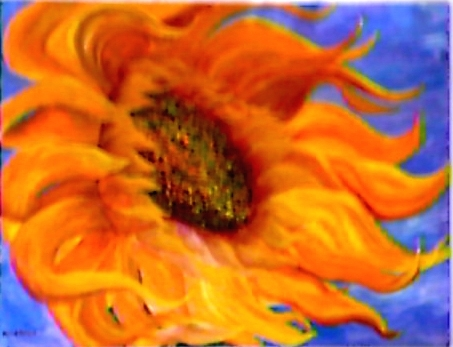 Sun Dancer by Jo Allebach Acrylic ~ 3 foot x 4 foot