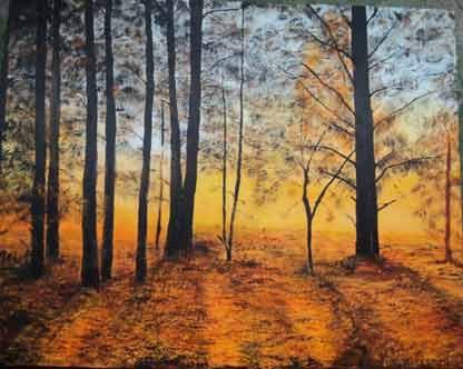 Prairie's Edge by Jo Allebach Acrylic ~ 24 in x 30 in