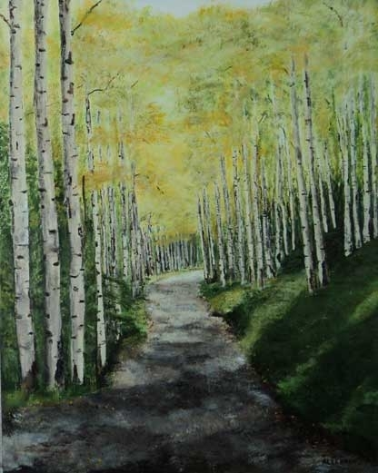 Around the Bend by Jo Allebach Acrylic ~ 30 inch x 24 inch