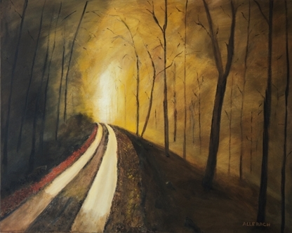 Through the Mist by Jo Allebach Acrylic ~ 24 inches x 30 Inches