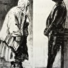 Two Figures, Monotype diptych