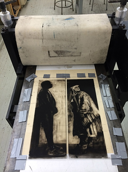 monotypt on press -