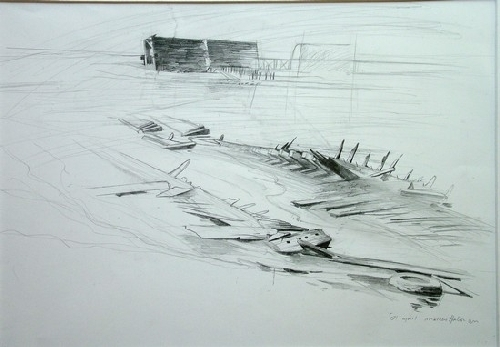 "Skeletons, 04 by Bill Murphy Pencil ~ 18"" x 24"""