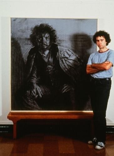"""Portrait of Bill Higgins by Bill Murphy Charcoal ~ 62"""" x 60"""""""