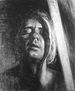 "Portrait by Bill Murphy Charcoal ~ 24"" x 18"""