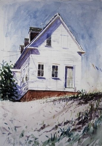 House in Provincetown - Watercolor