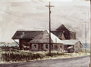 """Cape Cod Landscape by Bill Murphy Watercolor ~ 24"""" x 18"""""""