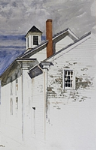 "Church, Princeton, N.J. by Bill Murphy Watercolor ~ 24"" x 18"""
