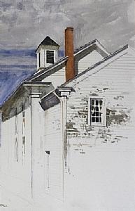 "Church, Princeton, N.J. by Bill Murphy Watercolor ~ 24"" x 18"""