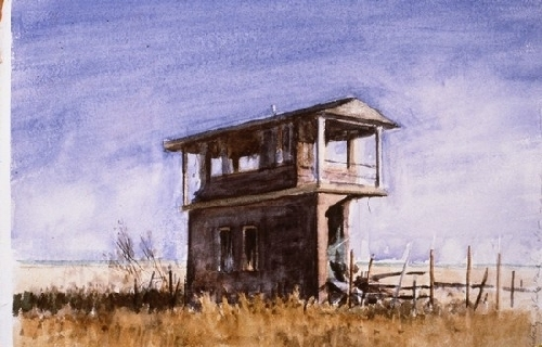 Liberty State Park Before Ronald Regan Came - Watercolor