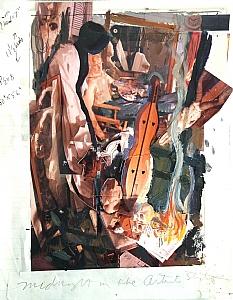"Study for the Sleep by Bill Murphy Mixed Medium ~ 12"" x 9"""