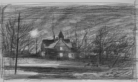 first idea: Franklin Avenue (Christmas Eve) - Pencil