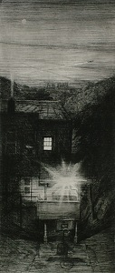 "morningstar by Bill Murphy Etching ~ 24"" x 11"""
