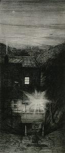 "morningstar by Bill Murphy Etching ~ 24"" x 11"""