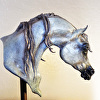 'Soft Wind' / Arabian Mare (bust or bookend)