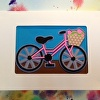 Pink Bike greeting card