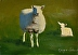 Lamb in the Grass by john reynolds - Oil