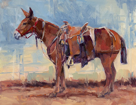 Patience of a Mule - Oil