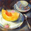 Cantaloupe on Fruit Plate