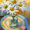 Daisies on a Plate