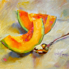 Cantaloupe with Spoon