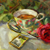 Green Tea and Red Rose
