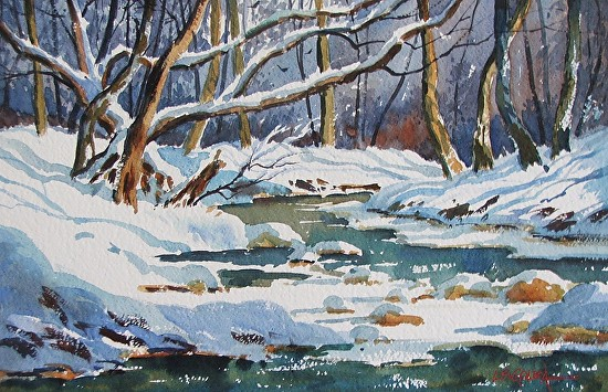 Ten Mile Creek - Watercolor