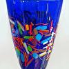 Cobalt Vase with Bright Frit