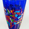 Cobalt Vase with Bright Frit