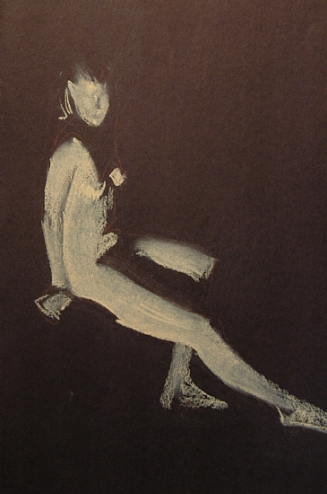 "figure drawing by Robert Lemler Pastel ~ 18"" x 12"""