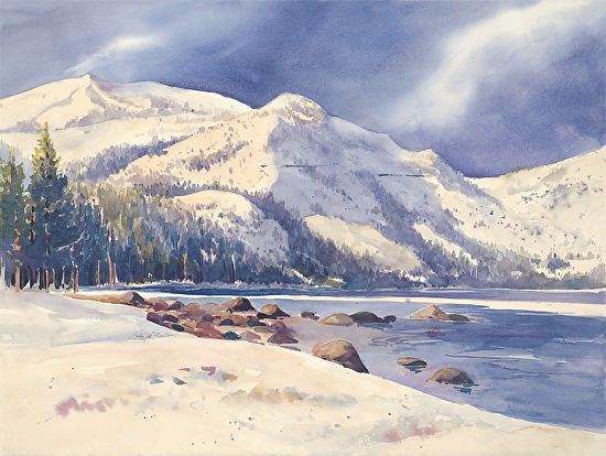 Morning Light - Donner Lake - Watercolor