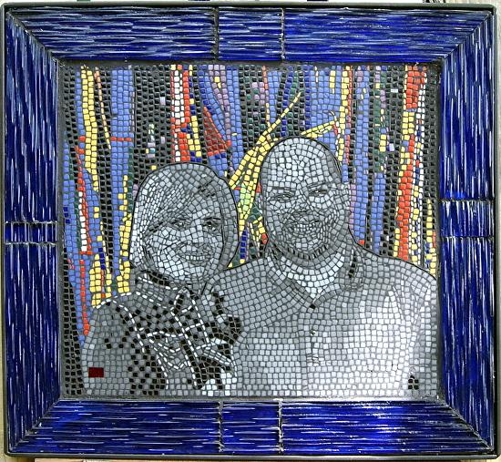 "Natalie & Aaron by frederic lecut mosaic ~ 25"" (63 cm) x 28"" (70 cm)"