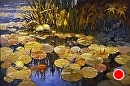 Lily Pond by Jim Wodark Oil ~ 4 x 6