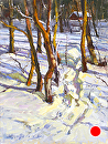 Snowy Trail by Jim Wodark Oil ~ 16 x 12
