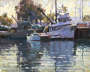 Harbor Sunrise by Jim Wodark Oil ~ 16 x 20