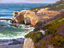 Crystal Cove Point by Jim Wodark Oil ~ 12 x 16