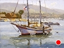 Double Masted by Jim Wodark Oil ~ 12 x 16