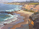 Crystal Cove Panorama by Jim Wodark Oil ~ 12 x 16